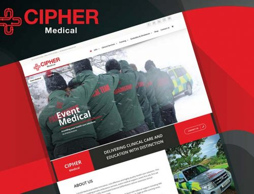CIPHER Medical web design