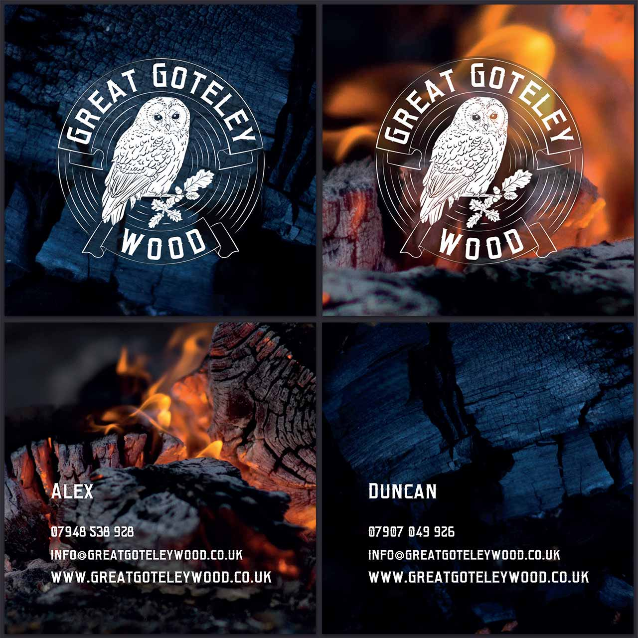 Business card design for GReat Goteley Wood