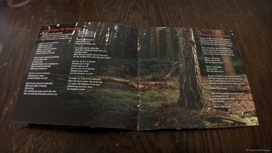 album booklet design for Eden Parris