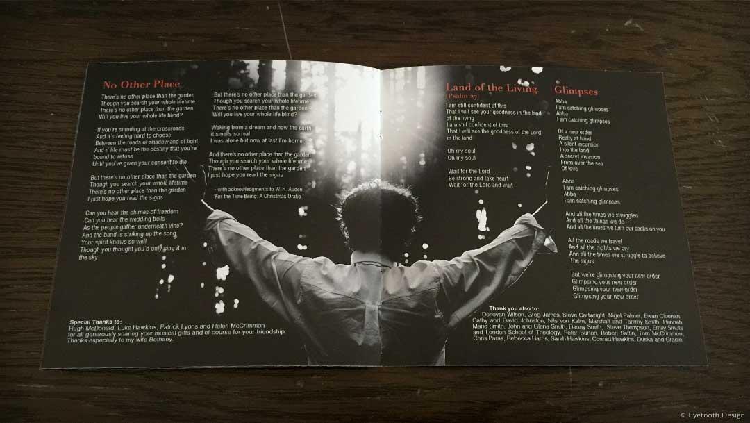 cd booklet design for Eden Parris