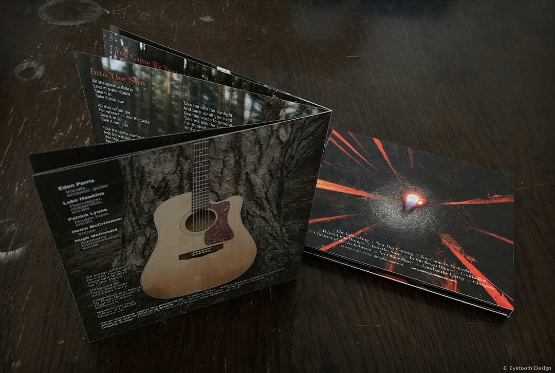 alyric booklet and track listing for Eden Parris