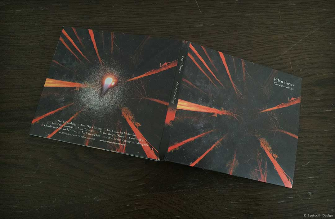 outside cd cover design for Eden Parris