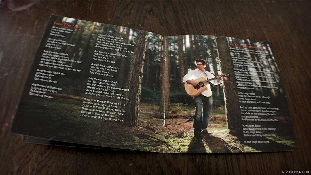 lyric booklet design for Eden Parris