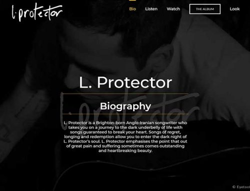 Music Electronic Press Kit Design for L. Protector