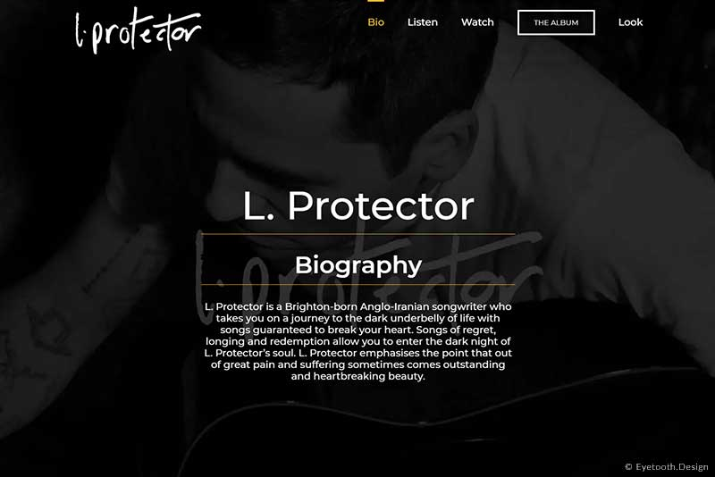 Music Electronic Press Kit Design for the songwriter L. Protector