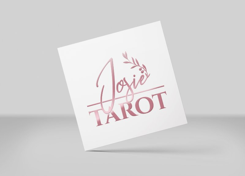 Josie Tarot logo and branding design