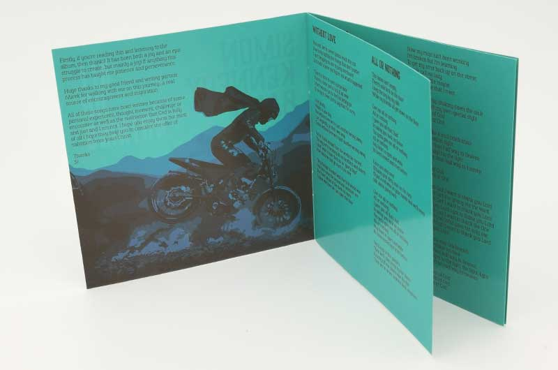 Music lyric booklet design