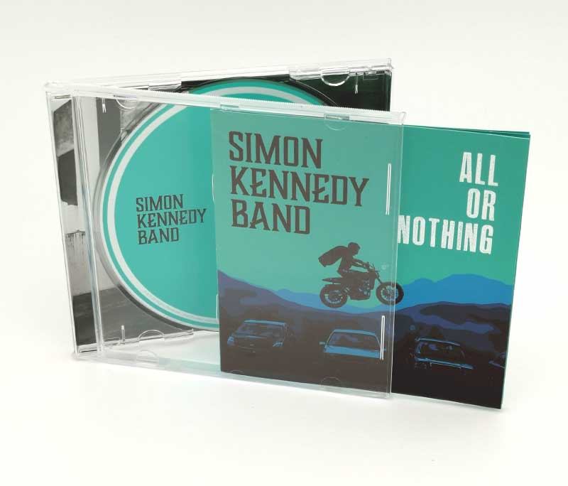 open album cover case with booklet and cd shown