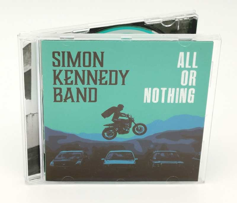 album cover design for Simon Kennedy Band