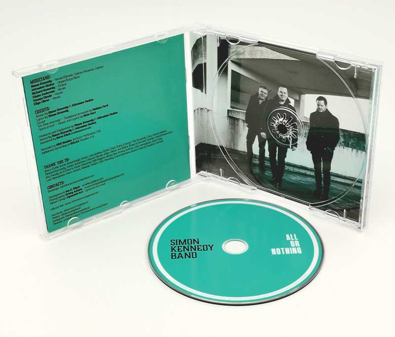 CD design showing inside of cover and cd artwork