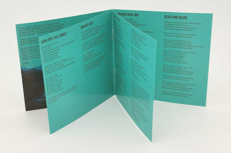 lyric booklet designer