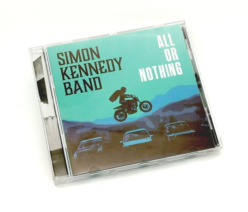 Simon Kennedy Band album cover design