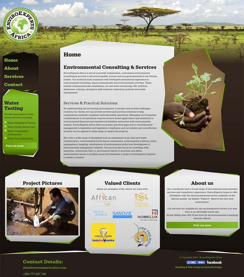 Environmental Consultancy Web Design
