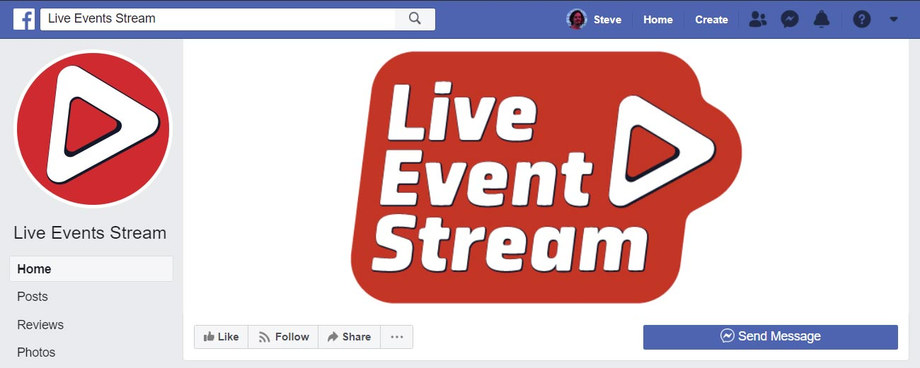 Live Event Stream Social Media Designer