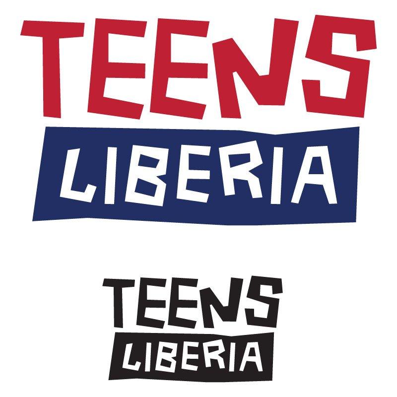 Teens Liberia logo - liberian colours angular concept