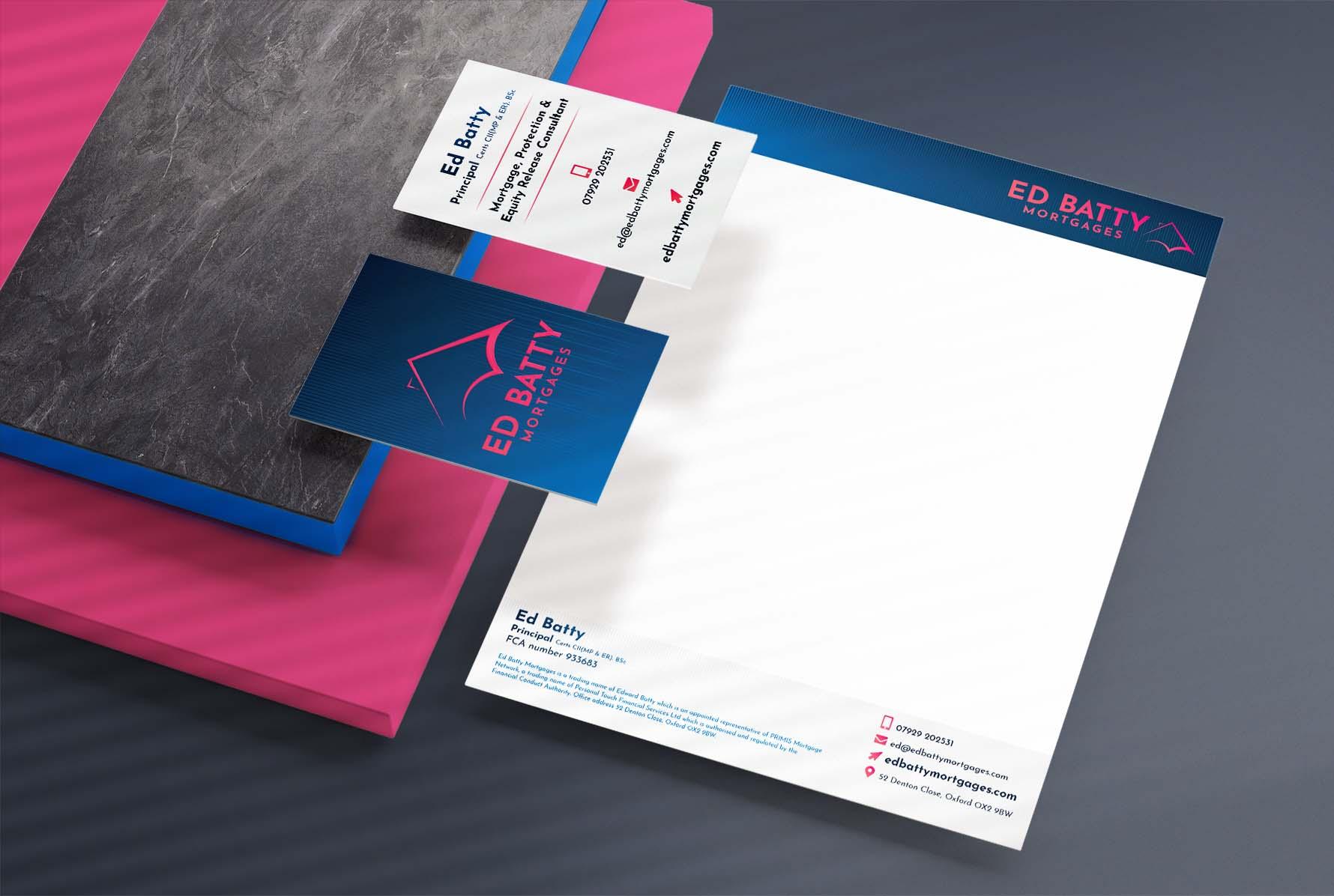 Ed Batty Mortgage Branding Stationery Design & Branding