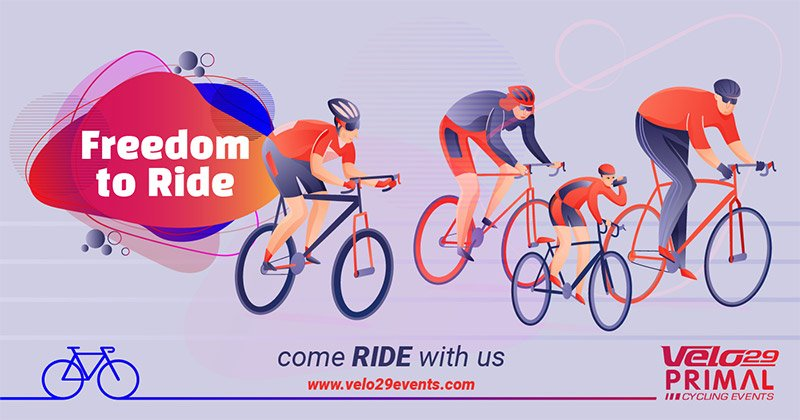 Freedom to Ride Cycling event artwork