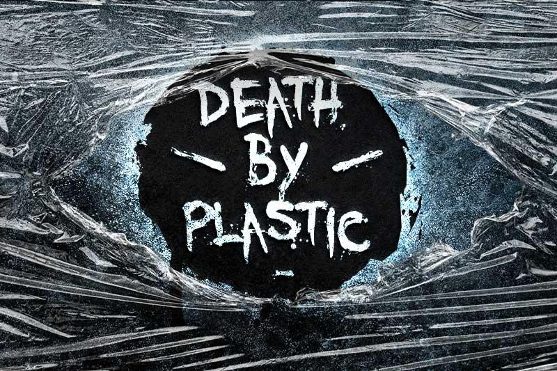 Death by plastic logo design