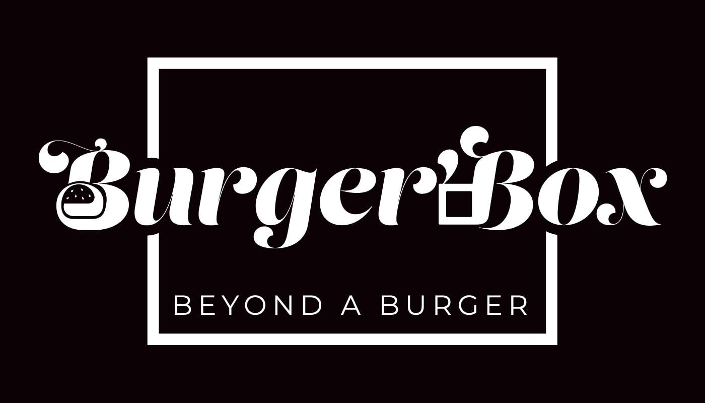 Burger'Box logo customised typography