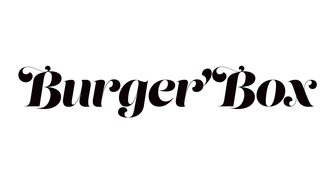 Burger Box logo font