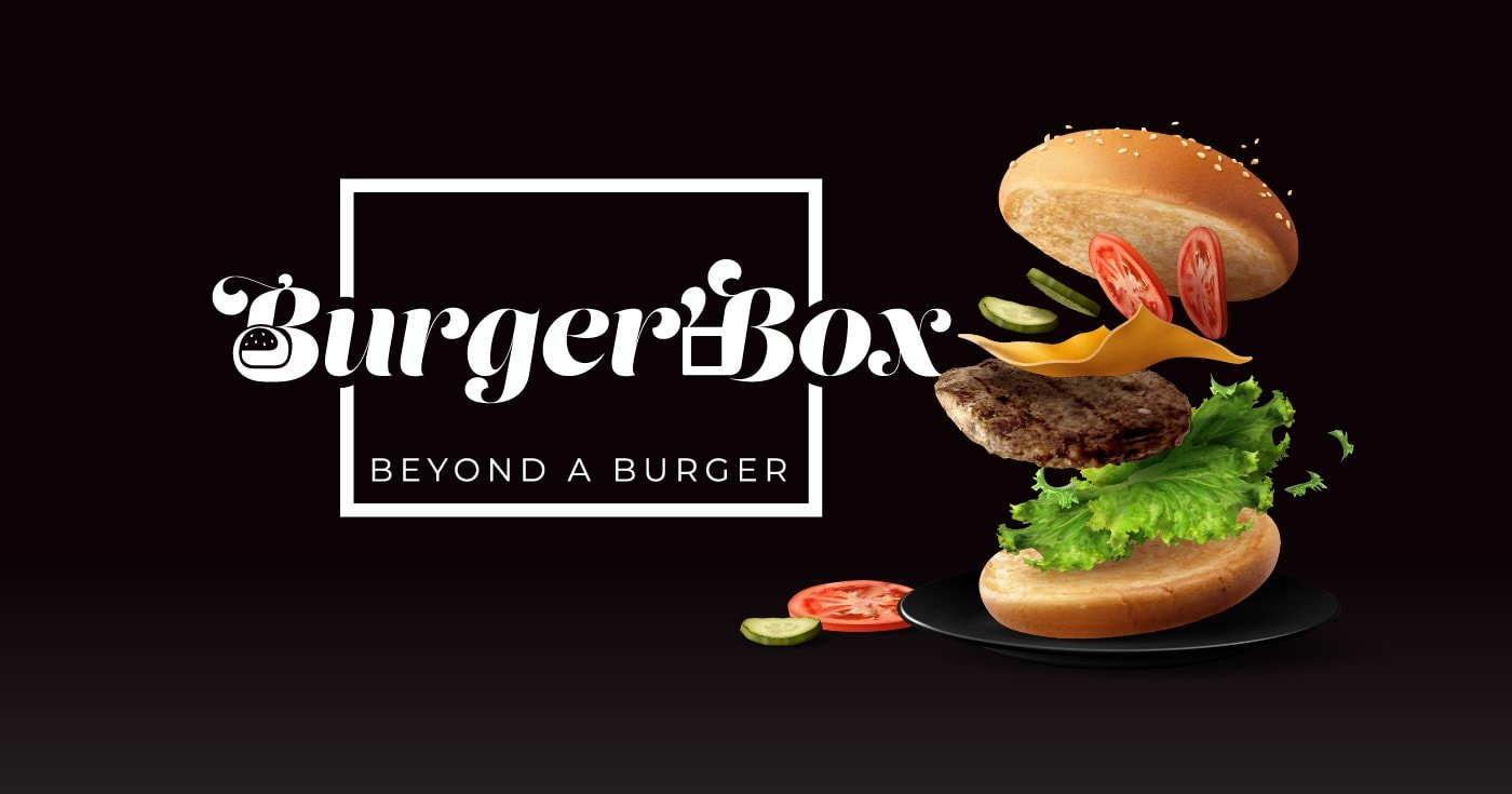 Burger'Box takeaway banner design