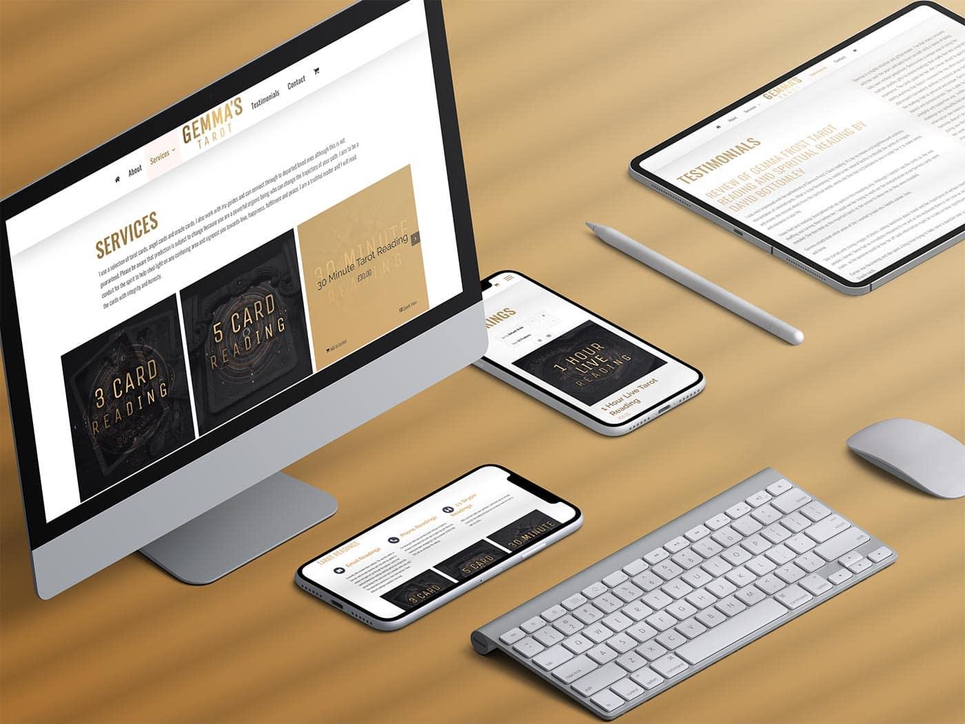 Spiritual Readings and Tarot Website Design