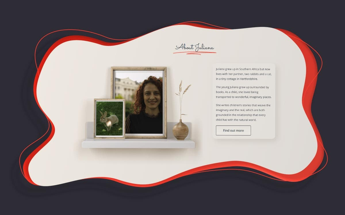 Author biography webpage design