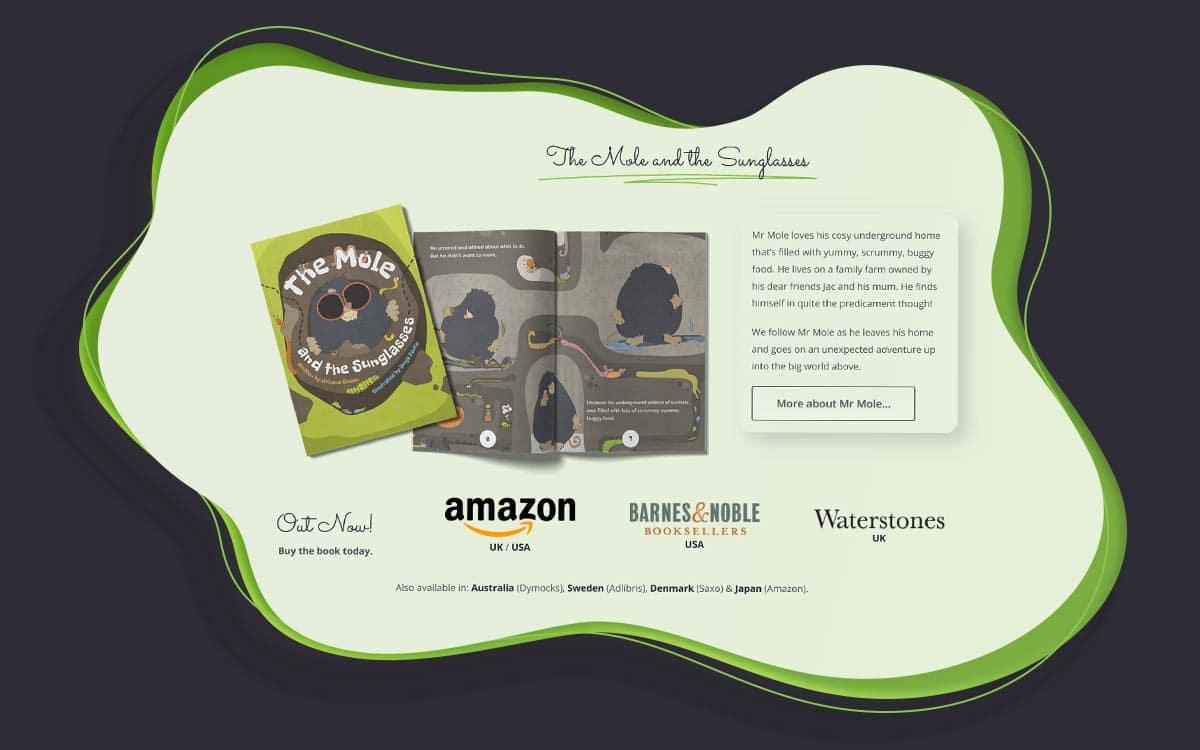 Kids book website design