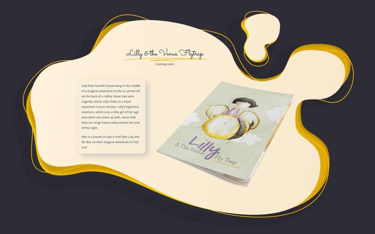 Illustrated childrens book author website design