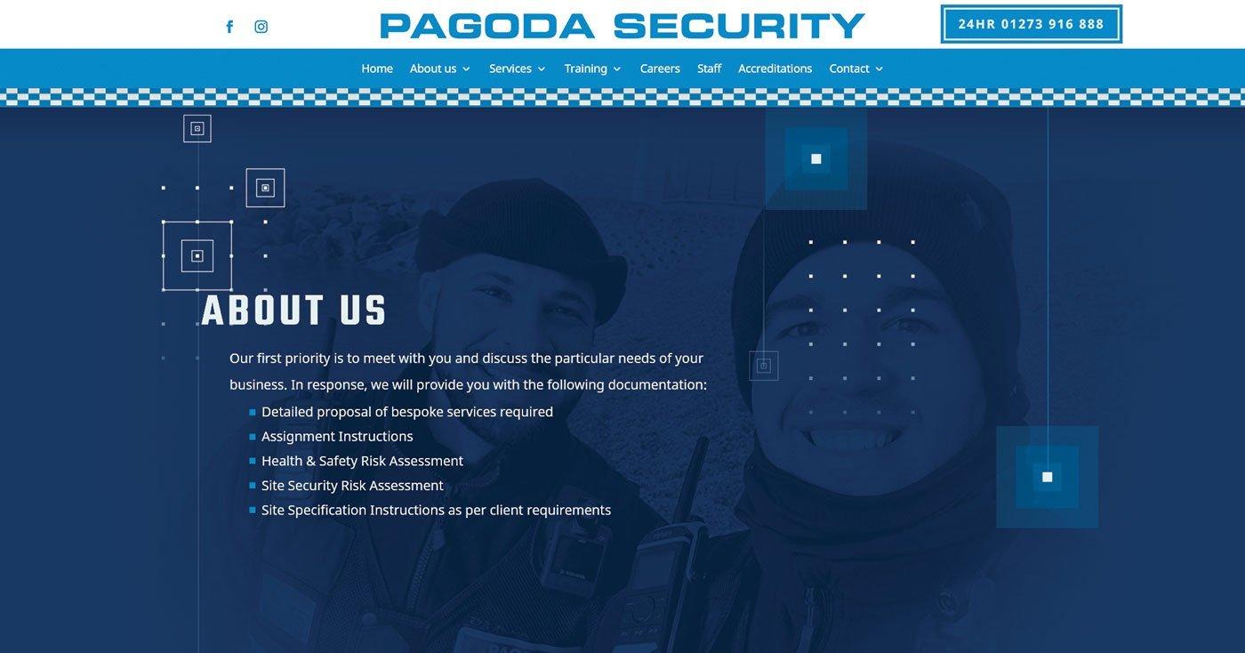 Security web page design