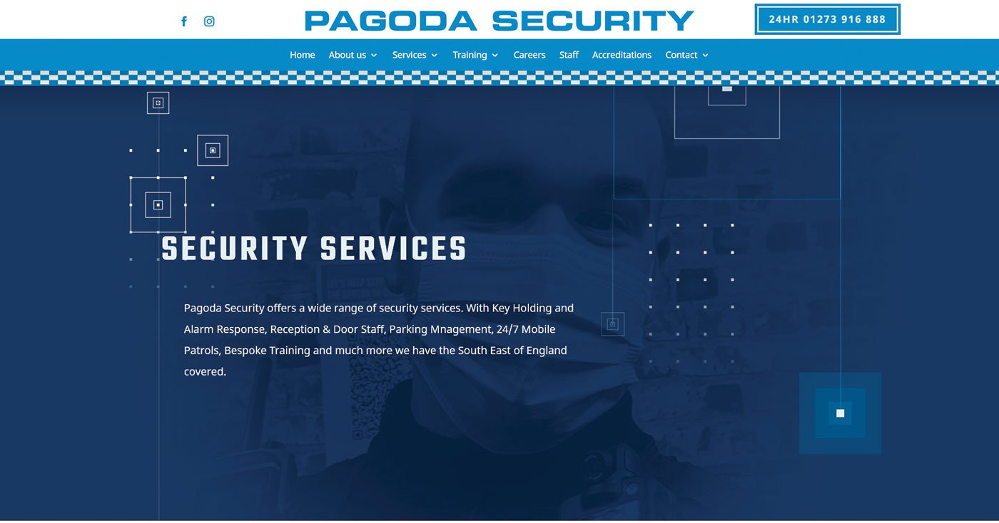 Security company branding and web design