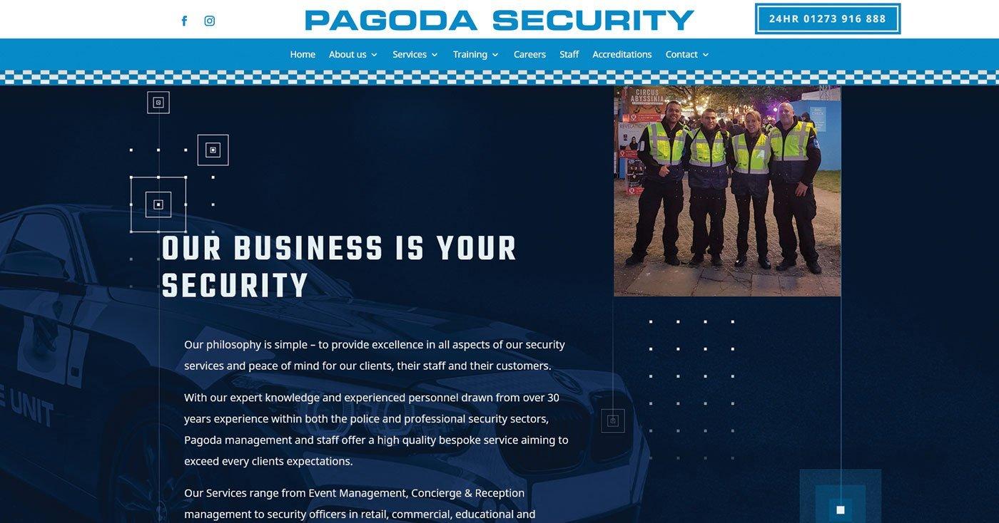 Pagoda Security interactive website design