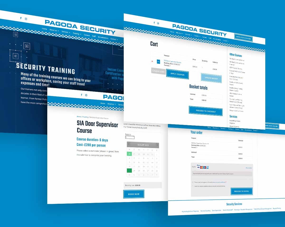 Security Training Ecommerce booking system design