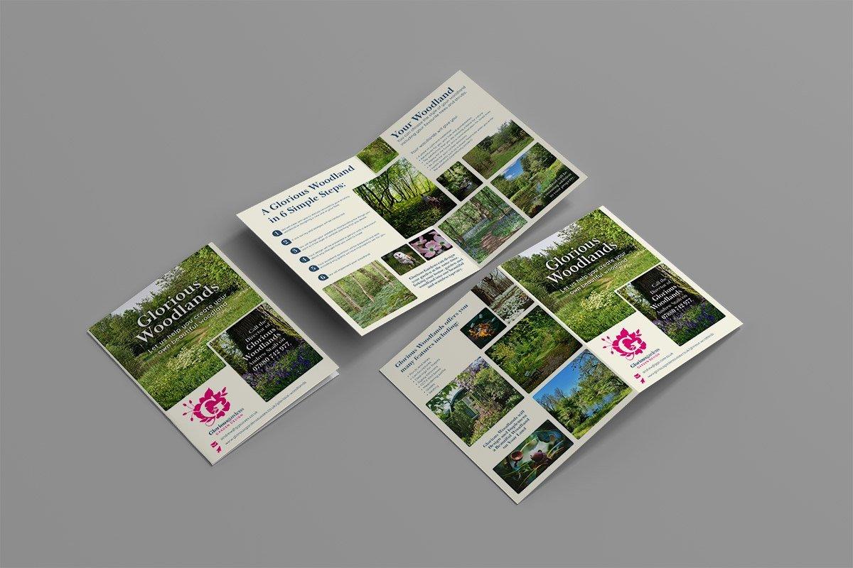 A4 Bi-fold Brochure Design for Glorious Woodlands