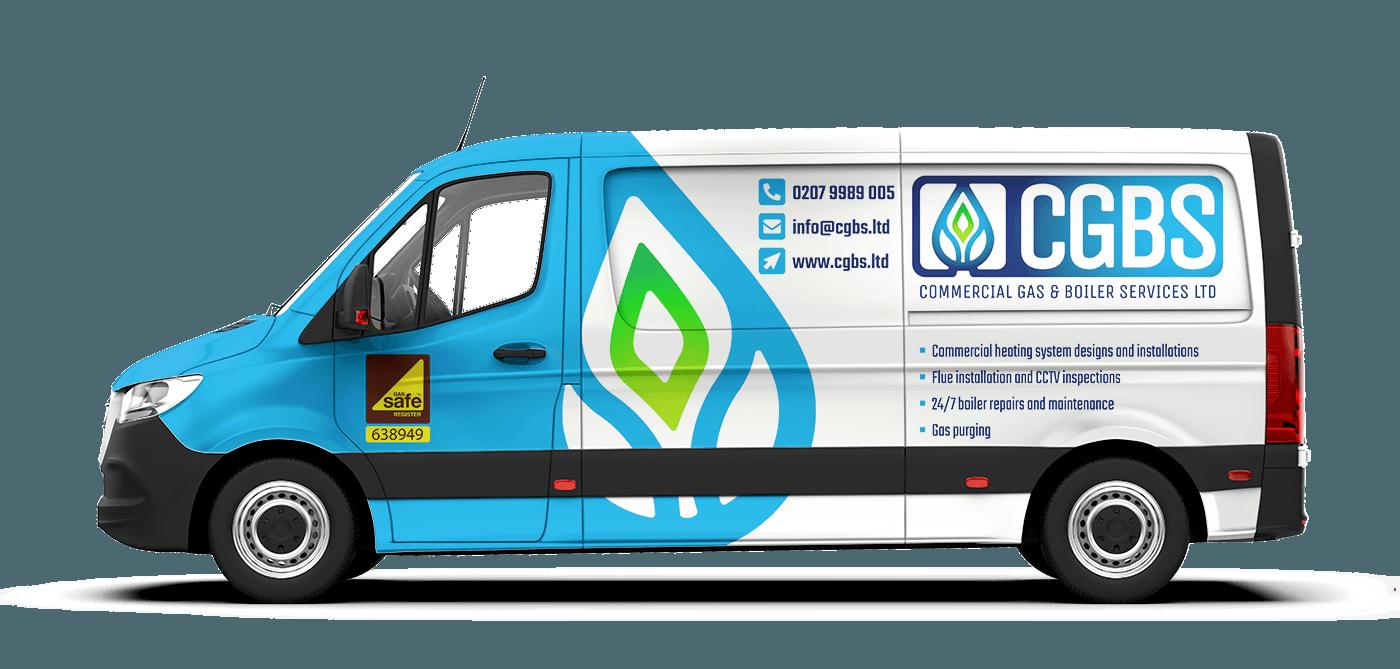 Gas Company Van Signage Design